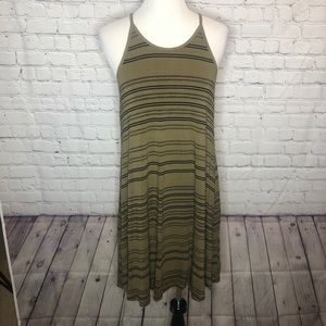 Olive and Black Sundress